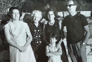 Helena Cecilia, Amparo, Carmen Barba y Agustín